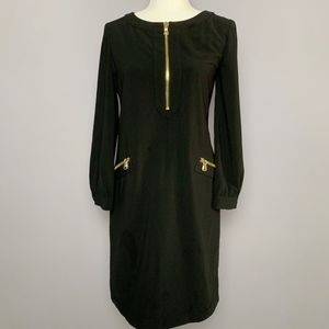 Boutique Moschino Black Dress with Gold Zipper